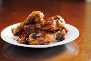 honey ginger chicken wing