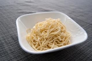 cooked homemade spaghetti